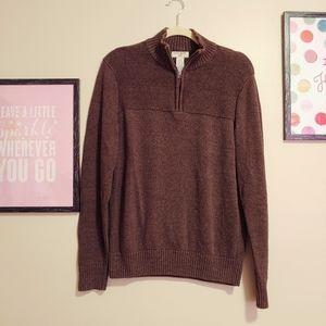 Dockers men's quarter zip pullover sweater cotton